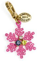 Juicy Couture Pink Glitter Snow Flake Charm - Limited Edition 2011