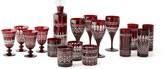 Regency Garnet Glassware Collection