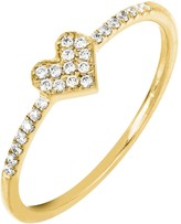 Bony Levy 18K Yellow Gold Pave Diamond Heart Ring - 0.12 ctw