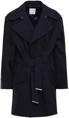 Sandro Marius Belted Cotton-blend Twill Jacket