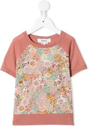 Bonpoint Floral-Print Knitted Top