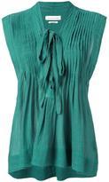 Etoile Isabel Marant pintuck front top - women - Cotton/Viscose - 38