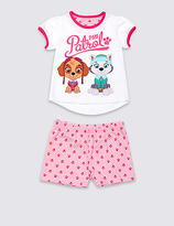 Marks and Spencer Pure Cotton Paw Patrol Short Pyjamas (1-6 Years)