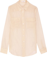Equipment Slim Signature metallic silk-georgette shirt