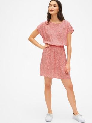 Gap Short Sleeve Print Dress