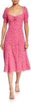 LIKELY Mollina Puff-Sleeve Midi Dress