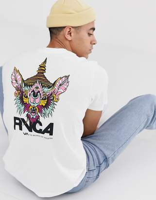 RVCA Screaming Bat printed t-shirt in white