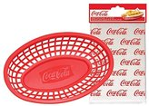 Tablecraft Coca-Cola / Coke 4pc Food & Snack Red Serving Basket & Logo Liner Set