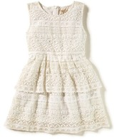 Girl's Peek Tessa Tiered Lace Dress