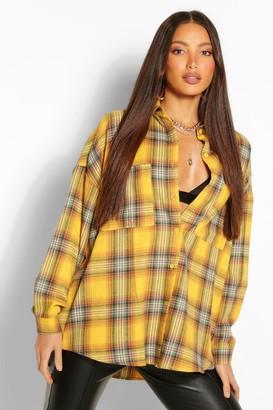 boohoo Tall Oversized Flannel Shirt