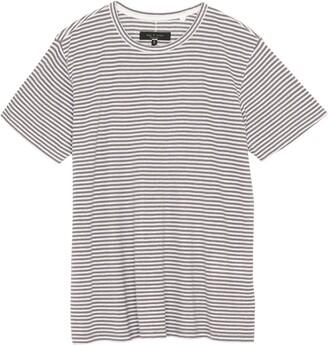 Rag & Bone Air Stripe Linen Blend Men's T-Shirt