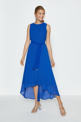 Coast Soft Belted High Low Hem Midi Dress