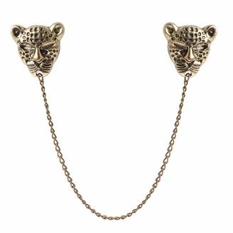 Freebily Women Vintage Chain Tassel Brooch Pin Lapel Blouse Shirt Collar Neck Tip Gold Skull One Size