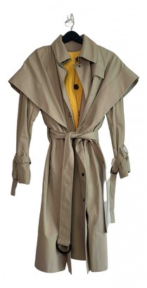 Eudon Choi Beige Polyester Trench coats