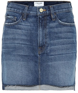 Frame Le Mini denim miniskirt