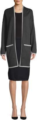 Eileen Fisher Open-Front Wool Cardigan