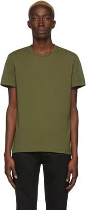 Balmain Green Embossed Logo T-Shirt