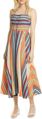 La Ligne Stripe Crossback Maxi Dress