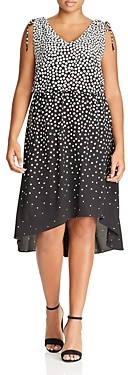 Adrianna Papell Sleeveless Dot Print Dress