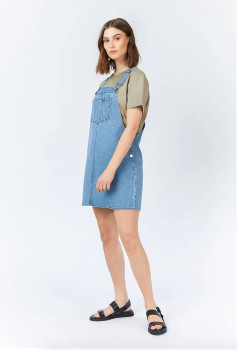 Dr. Denim Eir Dungaree Dress Day Shift Blue - cotton | Size M