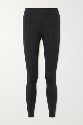 Vaara Nica Satin-trimmed Stretch Leggings - Black