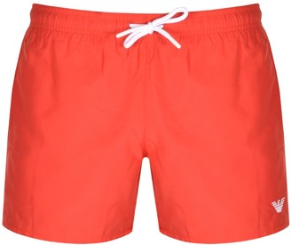 Giorgio Armani Emporio Logo Swim Shorts Red
