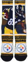 For Bare Feet Men's Antonio Brown Pittsburgh Steelers Rush Player Jersey Crew Socks
