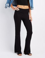 Charlotte Russe Flared High-Rise Pants