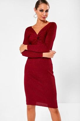 Milly Iclothing iClothing Bodycon Dress in Wine Metallic