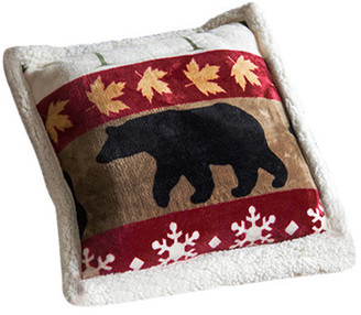 Carstens Tall Pine Sherpa Extra Plush Cabin Pillow