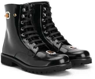 Dolce & Gabbana Embellished Ankle Boots