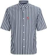 Ami Paris All-Over Stripe Heart Shirt