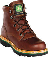 """John Deere Men's Boots 6"""" Safety Toe Lace-Up 6393"""" Boot"""