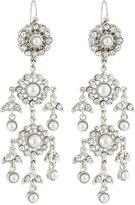Jose & Maria Barrera Victorian Pearl & Crystal Chandelier Earrings