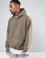 Reclaimed Vintage Inspired Oversized Hoodie In Gray Overdye