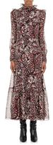 Saint Laurent Women's Jaguar-Print Georgette Dress-WHITE