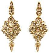 Oscar de la Renta Crystal Embellished Clip-On Drop Earrings
