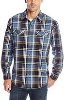 G.H. Bass Men's Long Sleeve Double Pocket Mountain Twill Shirt