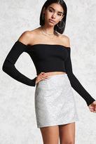 Forever 21 Holographic Sequin Mini Skirt
