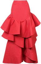 Rosie Assoulin flared layered skirt