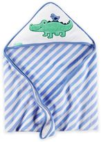 Carter's Alligator Hooded Towel in Blue/Green
