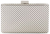 Karen Millen Perforated Box Clutch - Silver