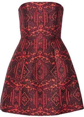 Alice + Olivia Nikki Strapless Jacquard Mini Dress