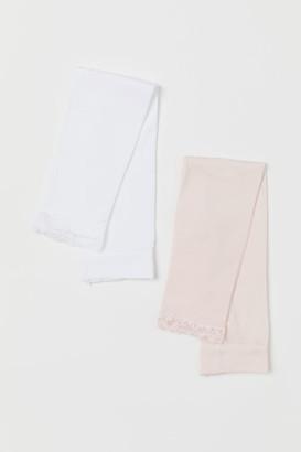 H&M 2-pack Microfiber Leggings - White