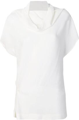 Jean Paul Gaultier Knott structured cowl-neck blouse