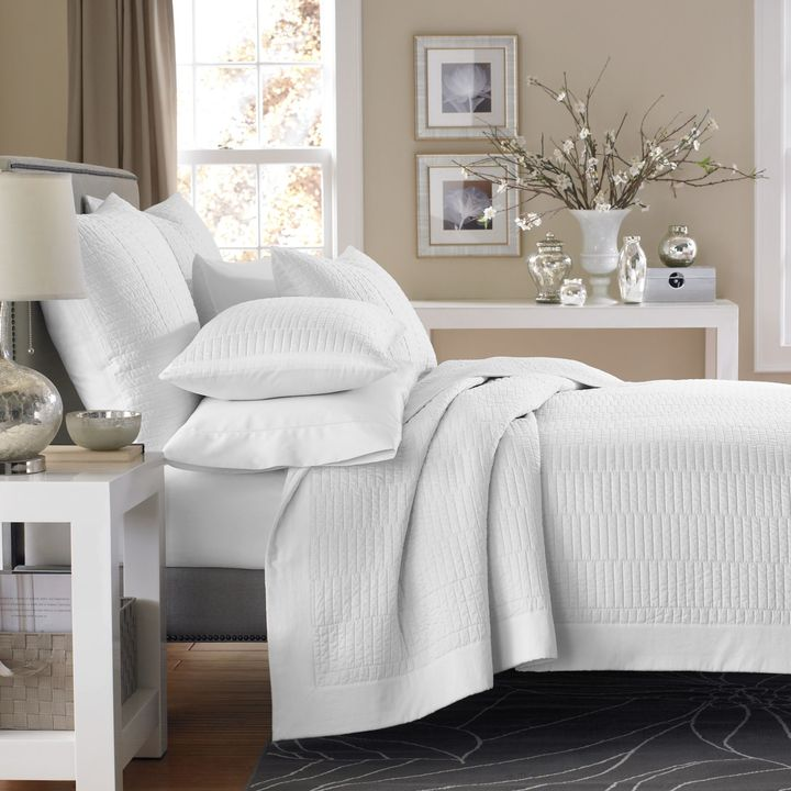 Bed Bath & Beyond Real Simple® Dune Coverlet in White