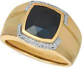 LeVian Le Vian Gents Men's Onyx & Diamond (1/6 ct. t.w.) Ring in 14k Gold