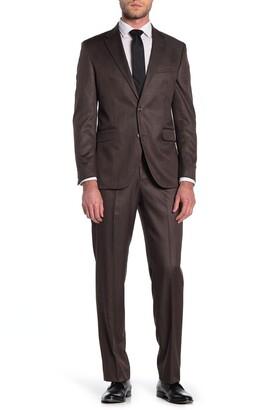 Dockers Brown Sharkskin Two Button Notch Lapel Suit