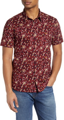 John Varvatos Jasper Regular Fit Floral Button-Up Shirt