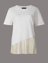 Autograph Pure Cotton Metallic Short Sleeve T-Shirt